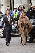 Viering 300 jaar Vrede van Utrecht  in de Domkerk.<br /> <br /> Celebrating 300 years in the Peace of Utrecht in the Dom Church.<br /> <br /> Op de foto:  Prinses Maxima en prins Willem-Alexander <br /> <br /> Princess Maxima and Prince Willem-Alexander