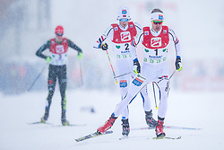 17.12.2017, Nordische Arena, Ramsau, AUT, FIS Weltcup Nordische Kombination, Langlauf, im Bild Joergen Graabak (NOR), Jarl Magnus Riiber (NOR) // Joergen Graabak of Norway, Jarl Magnus Riiber of Norway during Cross Country Competition of FIS Nordic Combined World Cup, at the Nordic Arena in Ramsau, Austria on 2017/12/17. EXPA Pictures © 2017, PhotoCredit: EXPA/ Dominik Angerer
