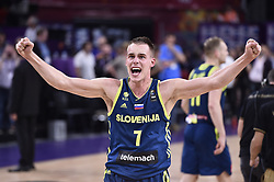 Klemen Prepelic of Slovenia reacts during basketball match between National Teams of Slovenia and Spain at Day 15 in Semifinal of the FIBA EuroBasket 2017 at Sinan Erdem Dome in Istanbul, Turkey on September 14, 2017. Photo by Vid Ponikvar / Sportida