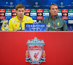 21.10.2014, Anfild, Liverpool, ESP, UEFA CL, FC Liverpool vs Real Madrid, Gruppe B, Pressekonferenz FC Liverpool, im Bild Liverpool's xxxx // during a press conference of Liverpool FC ahead of the UEFA Champions League Group B match between Liverpool FC and Real Madrid CF at Anfild in Liverpool, Great Britain on 2014/10/21. EXPA Pictures © 2014, PhotoCredit: EXPA/ Propagandaphoto/ David Rawcliffe<br /> <br /> *****ATTENTION - OUT of ENG, GBR*****