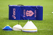 A Stade Francais tackle bag, before the European Challenge Cup match between Ospreys and Stade Francais at Principality Stadium, Cardiff, Wales on 2 April 2017. Photo by Andrew Lewis.