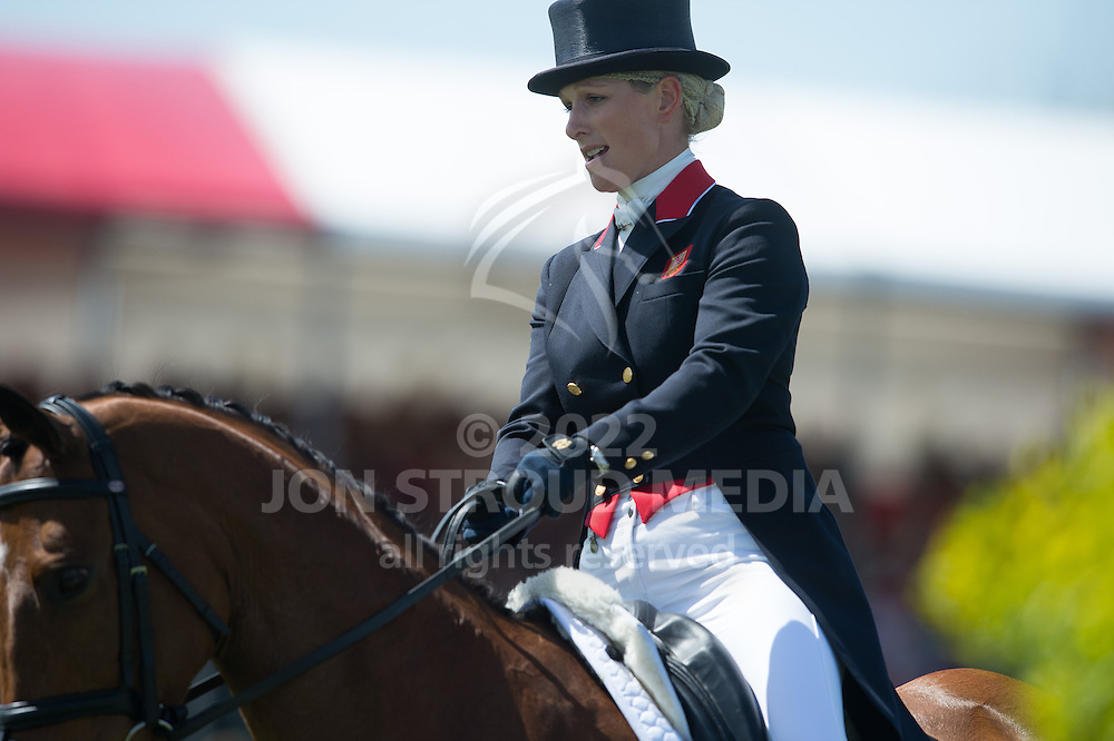 Zara Phillips (GBR) & High Kingdom - Dressage - Mitsubishi Motors Badminton Horse Trials - CCI4* - Badminton, Gloucestershire, United Kingdom - 04 May 2013