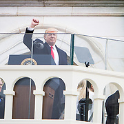 Donald Trump delivers his inaugural address as the 45th President of the United States, January 20, 2017.  John Boal Photography