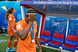 07-07-2019 FRA: Final USA - Netherlands, Lyon<br /> FIFA Women's World Cup France final match between United States of America and Netherlands at Parc Olympique Lyonnais. USA won 2-0 / Lineth Beerensteyn #21 of the Netherlands, Daniëlle van de Donk #10 of the Netherlands