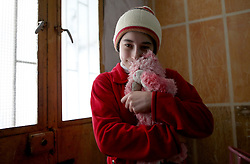 Syrian refugee Hanin Bathish Mtaweh, 13, lives in the basement of a former ski chalet block in Mount Lebanon, just north of the Lebanese capital, after her family fled Syria five years ago.