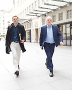 Andrew Marr Show Show <br /> arrivals<br /> at the BBC, Broadcasting House, London, Great Britain <br /> 23rd July 2017 <br /> <br /> Jeremy Corbyn MP<br /> Leader of the Labour Party <br /> arriving at the BBC with Seumas Milne <br /> <br /> <br /> <br /> Photograph by Elliott Franks <br /> Image licensed to Elliott Franks Photography Services