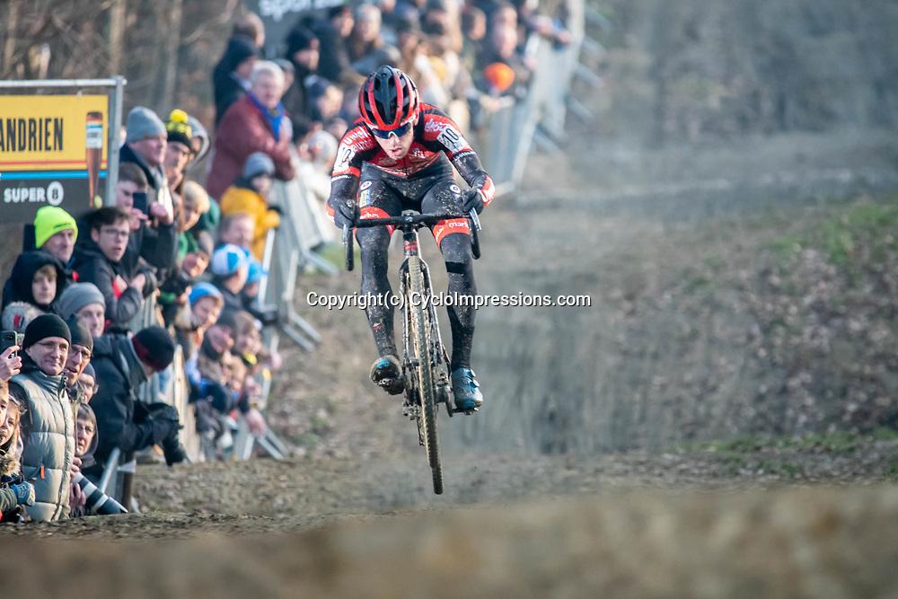 2020-01-01 Cycling: dvv verzekeringen trofee: Baal: Eli Iserbyt flying high