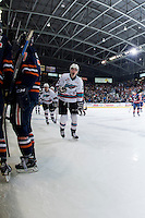 KELOWNA, CANADA - APRIL 4: Justin Kirkland #23 and Tyson Baillie #24 of Kelowna Rockets celebrate the first goal of game 7 in round 1 of WHL playoffs against the Kamloops Blazers on April 4, 2016 at Prospera Place in Kelowna, British Columbia, Canada.  (Photo by Marissa Baecker/Shoot the Breeze)  *** Local Caption *** Justin Kirkland; Tyson Baillie;