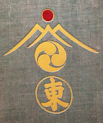 MOUNTAINERING AND EXPLORATION IN THE JAPANESE ALPS -  Rev Walter Weston, 1896, front cover design, lower Kanji symbol means ' East'