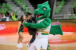 Mascot during basketball match between KK Cedevita Olimpija and KK Zadar in Round #19 of ABA League 2019/20, on February 8, 2020 in Arena Stozice, Ljubljana, Slovenia. Photo by Vid Ponikvar / Sportida
