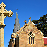 St John the Evangelist in Richmond, Australia<br /> John Bede Polding was born in Liverpool and was a Benedictine monk. In 1835, he was appointed Bishop of Van Diemen's Land, making him Australia's first bishop. As part of his mission to better serve the religious needs of Catholic convicts in penal colonies across the island, he founded St John the Evangelist parish during an initial mass at the Woodburn homestead of John Cassidy. This church was finished in 1837 on Cassidy's estate. Its Gregorian design is not surprising because the architect, Henry Edmund Goodridge, lived in Bath, an English city renowned for its Gregorian architecture. A few years later, the structure was expanded by Fredrick Thomas, a prisoner who had been convicted of forgery and swindling. Enjoy your visit to St John's, Australia's oldest Catholic church.