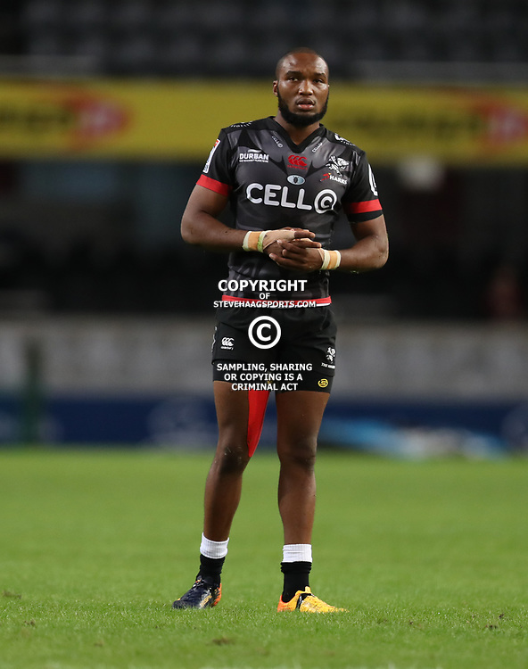 DURBAN, SOUTH AFRICA - MAY 27: Lukhanyo Am of the Cell C Sharks during the Super Rugby match between Cell C Sharks and DHL Stormers at Growthpoint Kings Park on May 27, 2017 in Durban, South Africa. (Photo by Steve Haag/Gallo Images)