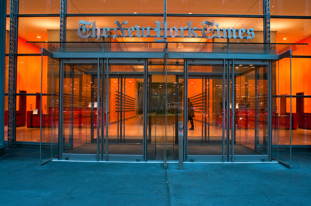 New York Times Building, Skyscraper west side of Midtown Manhattan, New York City, New York, USA, architect Renzo Piano
