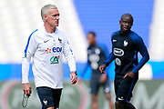 France's coach Didier Deschamps takes part in a training of the team of France before the Friendly Game between France and England on June 12, 2017 at Stade de France in Saint-Denis, France - Photo Benjamin Cremel / ProSportsImages / DPPI