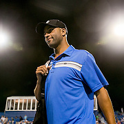 August 25, 2016, New Haven, Connecticut: <br /> James Blake is introduced during the Men's Legends Event on Day 7 of the 2016 Connecticut Open at the Yale University Tennis Center on Thursday, August  25, 2016 in New Haven, Connecticut. <br /> (Photo by Billie Weiss/Connecticut Open)