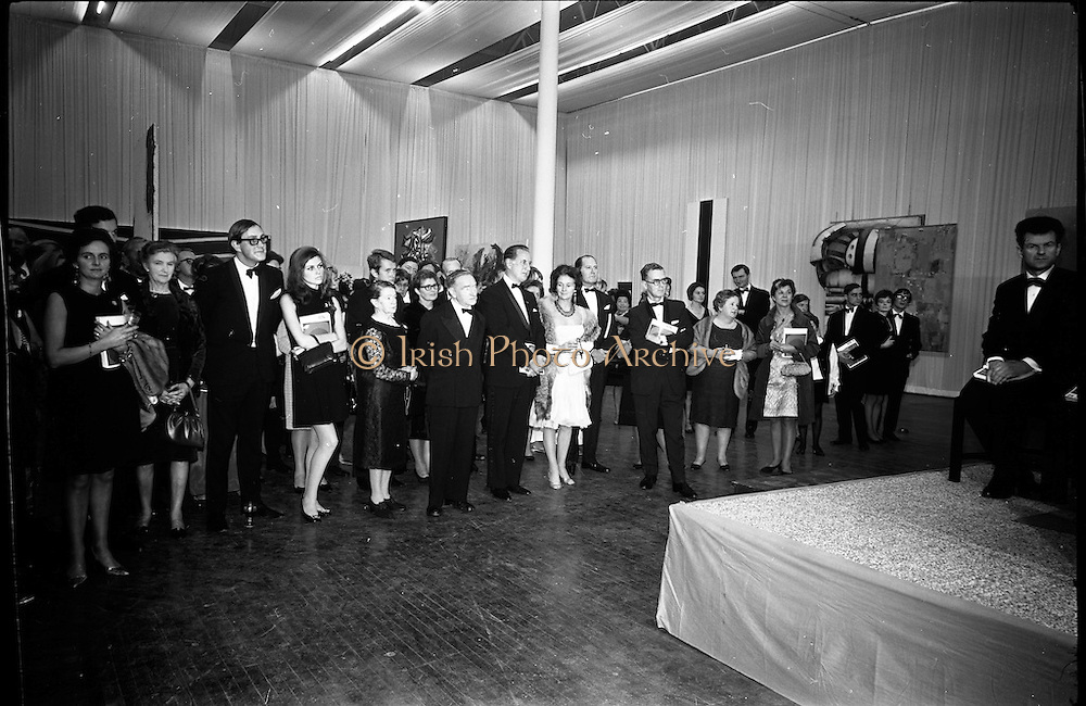 12/11/1967<br /> 11/12/1967<br /> 12 November 1967<br /> Official opening of ROSC art exhibition at the R.D.S. Image shows some of the attendees at the opening.