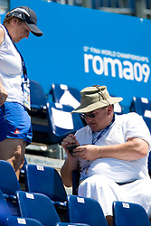 Coach Karmen Petric and President of Slovenian Swimming Federation Darjan Petric during the 13th FINA World Championships Roma 2009, on July 27, 2009, at the Stadio del Nuoto,  in Foro Italico, Rome, Italy. (Photo by Vid Ponikvar / Sportida)