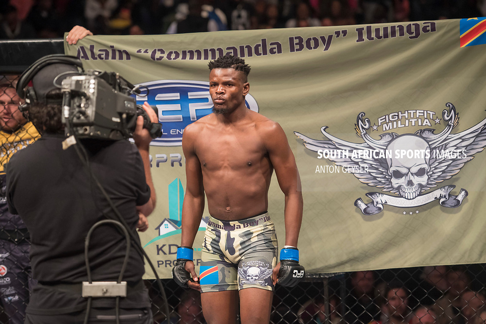 JOHANNESBURG, SOUTH AFRICA - MAY 13: Alain Ilunga inside the Hexagon during EFC 59 Fight Night at Carnival City on May 13, 2017 in Johannesburg, South Africa. (Photo by Anton Geyser/EFC Worldwide/Gallo Images)