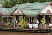 A house boat on the River Kwai.