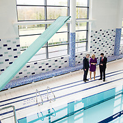 03.04.2017        <br /> UL Cements Reputation as Ireland&rsquo;s Sporting Campus with Launch of Munster Rugby High Performance Centre and new UL Sport 25m Diving Pool.<br />  <br /> Two new sports buildings worth almost &euro;15m were officially opened at the University of Limerick today by Minister of State, Patrick O&rsquo;Donovan, Department of Transport, Tourism and Sport.  The Munster Rugby High Performance Centre at UL and the new UL 25m Diving Pool adjacent to and connected with the existing UL Sport Arena.<br /> <br /> Pictured on a tour of the new UL 25m Diving Pool were, Prof. Don Barry, President, University of Limerick, Sarah Keane, CEO of Swim Ireland and Minister of State, Patrick O&rsquo;Donovan, Department of Transport, Tourism and Sport. Picture: Alan Place.