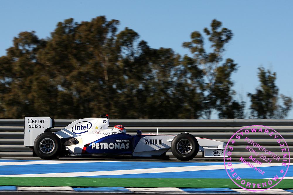 10.12.2008 Jerez, Spain, .Robert Kubica (POL),  BMW Sauber F1 Team,  interim 2009 car - Formula 1 Testing, Jerez .FOT. XPB.CC / WROFOTO.*** poland only !!! ***.*** NO INTERNET / MOBILE USAGE !!! ***