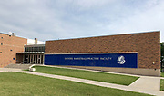 General overall view of the Shivers Basketball Practice Facility adjacent to the Knapp Center on the campus of Drake University in Des Moines, Iowa, Saturday, June 23, 2018. The practice facility was completed in 2014 and is the  home of the Drake Bulldogs basketball team.