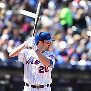 NEW YORK, NEW YORK - APRIL 13: Neil Walker, New York Mets, batting during the Miami Marlins Vs New York Mets MLB regular season ball game at Citi Field on April 13, 2016 in New York City. (Photo by Tim Clayton/Corbis via Getty Images)