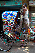 Rickshaw worker in Old Dhaka (Bangladesh).