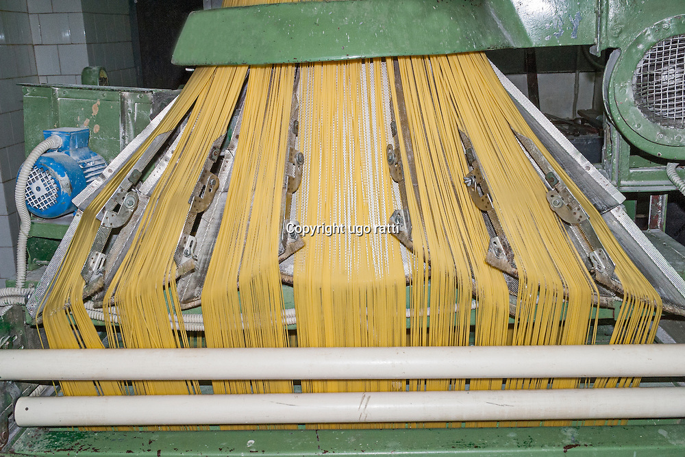 italy, napoli, Gragnano, production of the famous bronze-cut pasta
