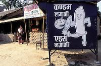 Nepal - Region du Teraï - Propagande de lutte contre le Sida