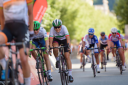 Elena Cecchini (CANYON//SRAM Racing) edges out Annemiek van Vleuten in the sprint for second place at Thüringen Rundfarht 2016 - Stage 5 a 99km road race starting and finishing in Greiz, Germany on 19th July 2016.
