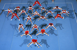 Viqueens Coed, Norway during Mixed senior at second day of European Cheerleading Championship 2008, on July 6, 2008, in Arena Tivoli, Ljubljana, Slovenia. (Photo by Vid Ponikvar / Sportal Images).