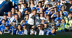 LONDON, ENGLAND - Saturday, August 20, 2011: Chelsea's manager Andre Villas-Boas during the Premiership match against West Bromwich Albion at Stamford Bridge. (Pic by David Rawcliffe/Propaganda)
