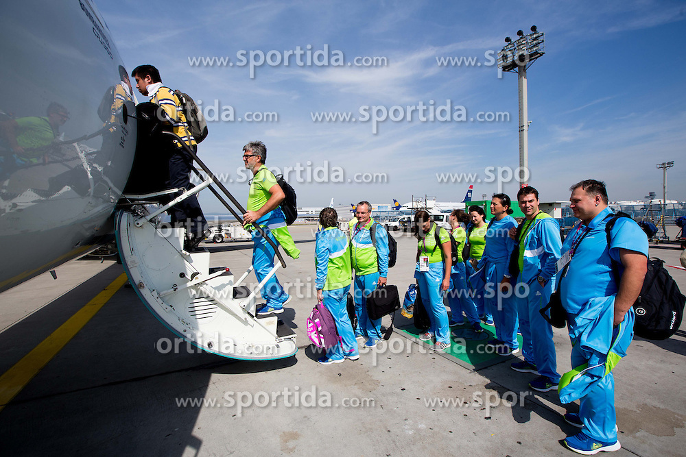 Team Slovenia at Airport in Frankfurt during way back to Airport Joze Pucnik after the London 2012 Paralympic Games on September 10, 2012, in Frankfurt, Germany. (Photo by Vid Ponikvar / Sportida.com)