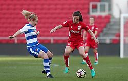 Chloe Arthur of Bristol City Women takes on Rachel Furness of Reading Women - Mandatory by-line: Gary Day/JMP - 22/04/2017 - FOOTBALL - Ashton Gate - Bristol, England - Bristol City Women v Reading Women - FA Women's Super League 1 Spring Series