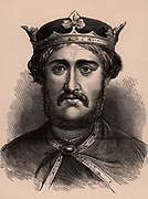 Richard I, Coeur de Lion (1157-1199) king of England from 1189; son of Henry II and Eleanor of Aquitaine. A member of the Angevin dynasty.  Wood engraving c1900.