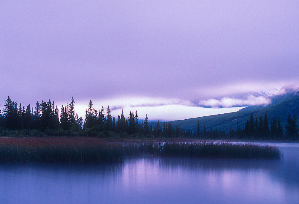 Predawn at Vermilion Lakes, Alberta Canada