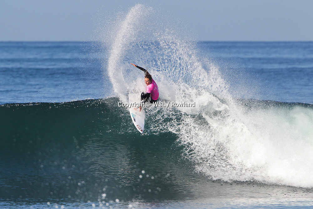 Nikki Van Dijk placed second in Semifinal Heat 2 against Stephanie Gilmore at the Swatch Women's Pro Trestles.