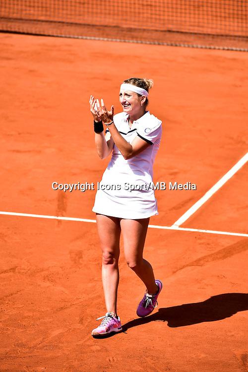 Joie Timea BACSINSZKY - 03.06.2015 - Jour 11 - Roland Garros<br /> Photo : Dave Winter / Icon Sport