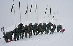 26.02.2010, Faschingalm, Lienz, AUT, Bundesheer Lawinenübung, im Bild Soldaten suchen per Sondierung einen verschütteten per Sondierung, EXPA Pictures © 2010, PhotoCredit: EXPA/ J. Feichter