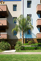 Condominium with Palm tree in Reseda, San Fernando Valley, Los Angeles, California.