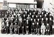 elementary school children group photo 1952 Japan