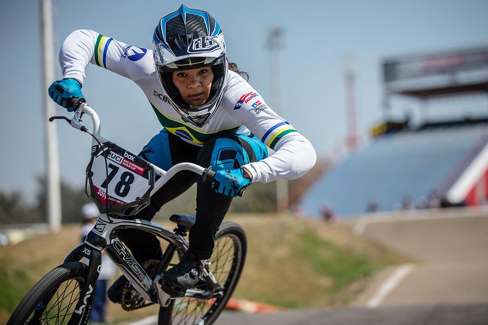 #78 (REIS SANTOS Paola) BRA  at Round 9 of the 2019 UCI BMX Supercross World Cup in Santiago del Estero, Argentina