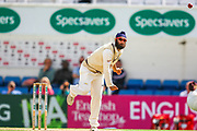 Amar Virdi of Surrey bowling during the Specsavers County Champ Div 1 match between Surrey County Cricket Club and Hampshire County Cricket Club at the Kia Oval, Kennington, United Kingdom on 18 August 2019.