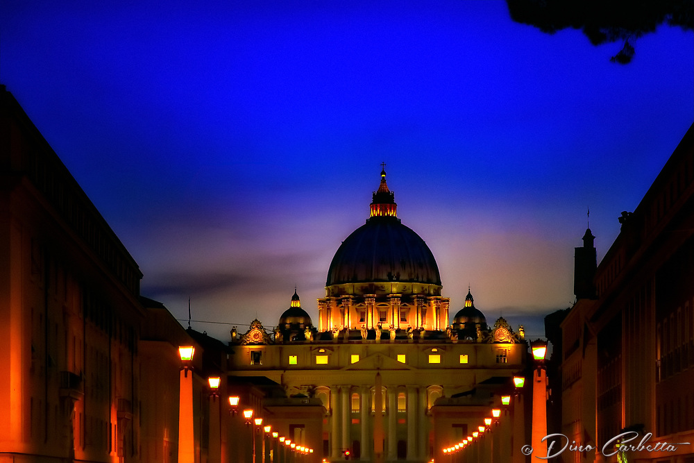 """""""View of the Vatican at twilight from Ponte Sant'Angelo""""..."""