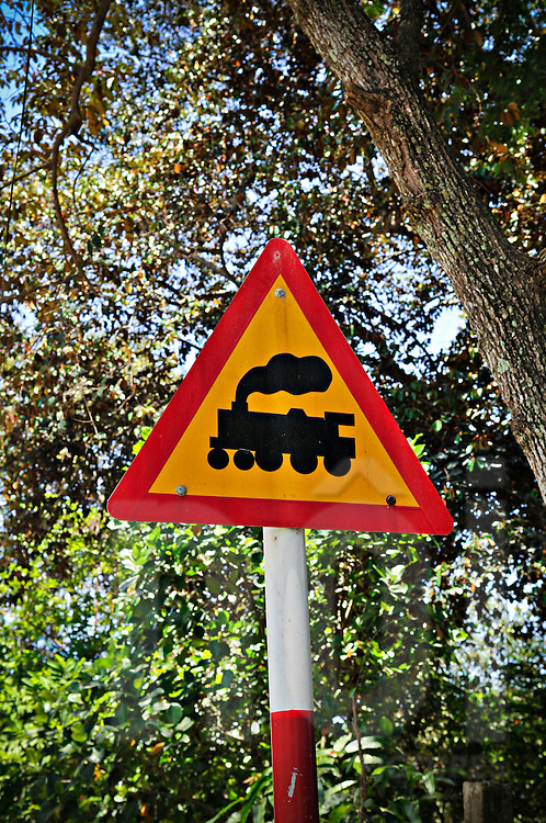 Sign for a railroad crossing | Images of Vietnam and