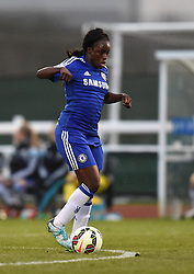 Eniola Aluko of Chelsea Ladies in action during the FA Women's Super League match between Bristol Academy Women and Chelsea Ladies at Stoke Gifford Stadium on 2 April 2015 in Bristol, England - Photo mandatory by-line: Paul Knight/JMP - Mobile: 07966 386802 - 02/04/2015 - SPORT - Football - Bristol - Stoke Gifford Stadium - Bristol Academy Women v Chelsea Ladies - FA Women's Super League