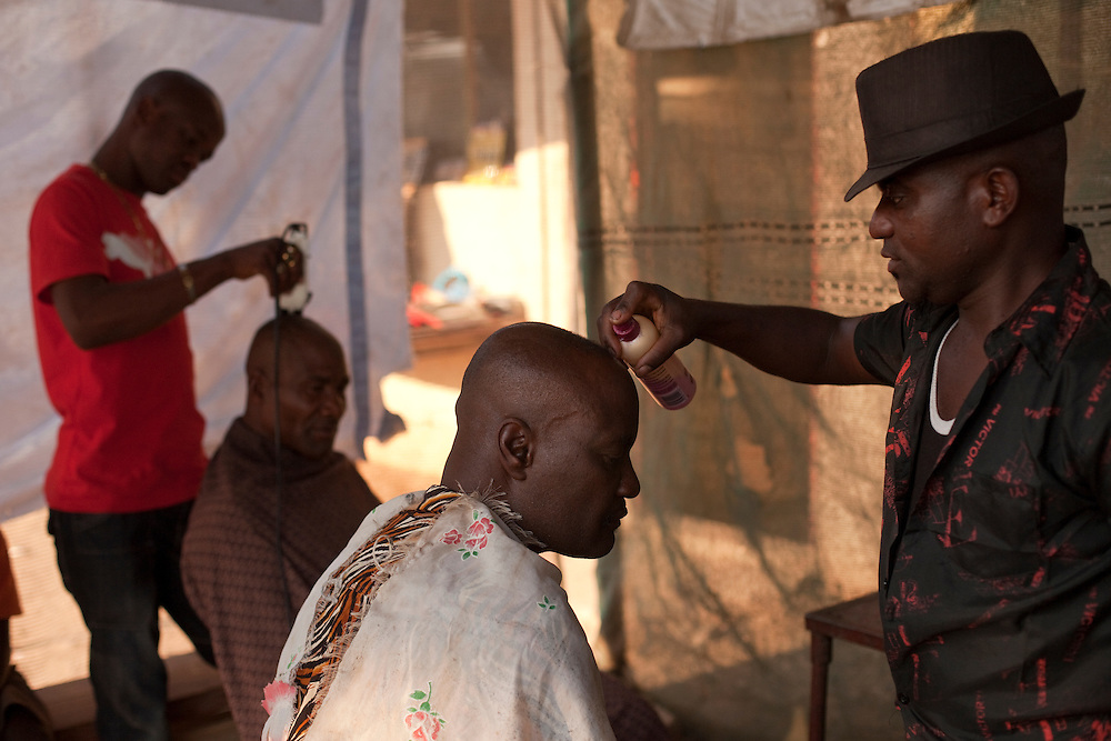 Hair salon in Opuwo, Namibia, Africa.