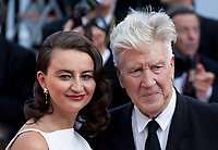 Emily Stofle and director David Lynch arriving to the Closing Ceremony and awards at the 70th Cannes Film Festival Sunday 28th May 2017, Cannes, France. Photo credit: Doreen Kennedy