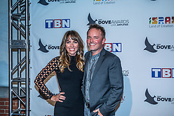 October 11, 2016 - Nashville, Tennessee, USA - Chris Tomlin and his wife at the 47th Annual GMA Dove Awards  in Nashville, TN at Allen Arena on the campus of Lipscomb University.  The GMA Dove Awards is an awards show produced by the Gospel Music Association. (Credit Image: © Jason Walle via ZUMA Wire)
